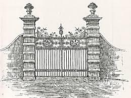 drawn castle mansion 6 736 x 552 open door pencil drawing78 pencil