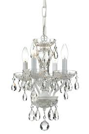 white mini chandelier traditional crystal 4 light small