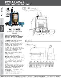 monarch ws50 submersible effluent pump 620233ken s distributing little giant ws30 submersible effluent pump 620000