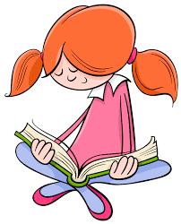 reading book cartoon premium vector