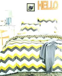 yellow and grey bedding reversible comforter set in asda chevron bed