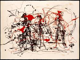 best pollock images abstract expressionism jackson pollock untitled 1948 49 dripped ink and e l on paper