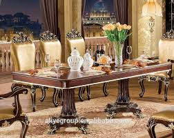 Tyx605 1 Luxury Dining Table Set With Chair Gold Colour Design For