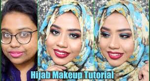 hijab wedding guest makeup tutorial for dark pigmented hyper pigmented skin