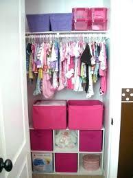 pink baby closet organizer organization ideas clothes storage