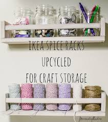 ikea e racks upcycled for craft storage personallyandrea com
