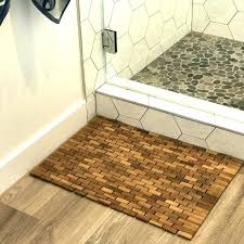 wooden bath mats bathroom teak solid floor mat for outdoor showers target nz