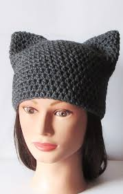 Cat Hat Crochet Pattern Stunning Gray Cat Hat Crochet Cat Beanie Animal Beanie Hat Kitty Kitten