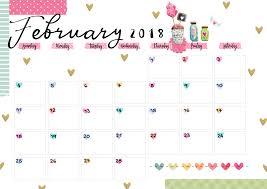 Calendar Free Downloads February 2018 Printable Colorful Calendar Free Download Colorful