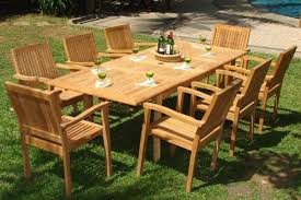 9 piece teak dining set