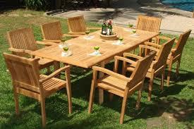 9 piece teak dining set
