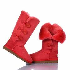 Ugg Bailey Button Triplet Boots 1873 red,  Cheap