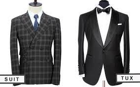 bespoke suit vs tux