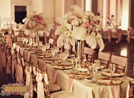 the gillespie table setup with flower centerpiece