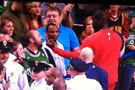 Ivan Johnson flips the bird to a Celtics fan right in his face (Picture)