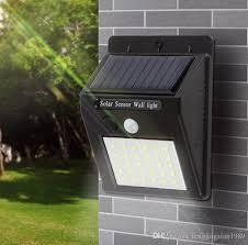 2019 30 led solar powered outdoor wall lamps wall light waterproof motion sensor garden pathway yard emergency security wall light from fengjingxian1989