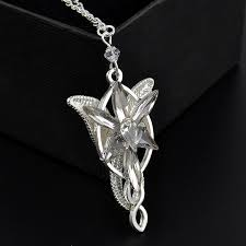 details about shiny retro rhinestone lord of the rings arwen evenstar pendant necklace chain