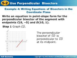 14 example 4 writing equations of bisectors