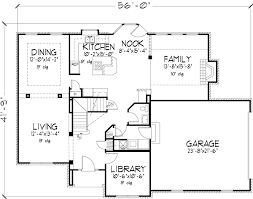 Early american Style House Plans   Plan   Main Floor Plan