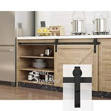 smartstandard sdh0050minij1bk 5ft mini cabinet sliding barn door hardware kit for tv stand wardrobe