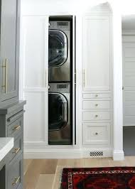 washer and dryer cabinet concealed stacked washer and dryer view full size stackable washer dryer closet dimensions