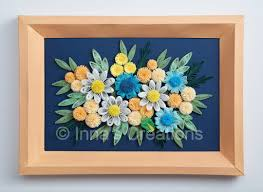 Paper Quilling Flower Frames Innas Creations Simple Quilled Flowers In A Beveled Frame