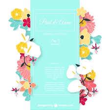 Free Invitation Background Designs Floral Invitation Design Wedding Invitation Card With Colorful