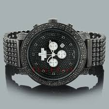 black diamond watches ice time crown mens watch 14ct