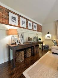 Lovely Decorate A Long Wall In Living Room Pictures Inspiring Idea Or Best Walls  Ideas On Decor Open Concept Boxy Beautiful Bungalow Brick Roomconsole Table  With ...