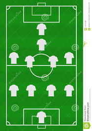 soccer field templates vector soccer field with the arrangement of players in the game