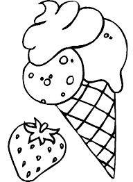 waffle cone coloring page. Delighful Page Coloring Pages Of Strawberry Ice Cream Cone  Intended Waffle Page C
