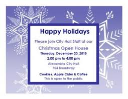Invitation To Open House You Are Invited To Our Open House City Of Alexandria