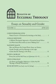 bulletin of ecclesial theology essays on human 9781499571219 bulletin of ecclesial theology essays on human sexuality and gender