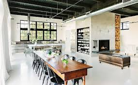 next dining furniture. In This Stunning Seattle Loft, The Owners Opted For An Industrial-style Island And Next Dining Furniture
