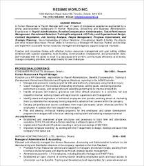 Hr Resume Templates Inspiration Hr Resumes 48 Free Word PDF Documents Download Free Premium