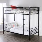 Walker Edison Premium Twin Over Twin Metal Bunk Bed Multiple Colors