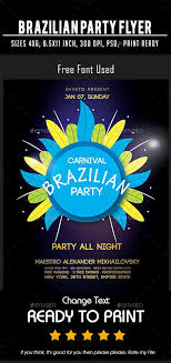Brazilian Party Flyer Ready To Use Template You Can Use