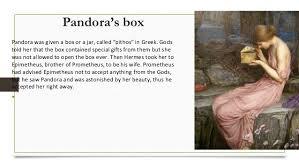 the myth of pandoras box pandora s box