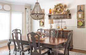 farmhouse style dining room fall tour
