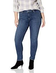 Levis Womens 524 Skinny Jean Black Sateen 33 17 Medium