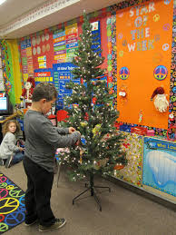 Serger Class Christmas Tree NapkinsClassroom Christmas Tree