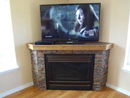 corner electric fireplace tv stand oak with furniture scenic photo
