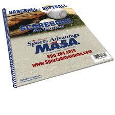 Glovers Masa Baseball Softball Scorebook Sports Advantage