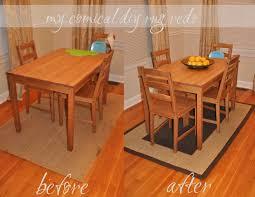 unique design rug under kitchen table also best tables