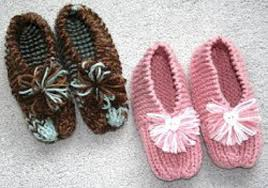 Grandmas Knitted Slippers Printable Pattern Favecrafts Com
