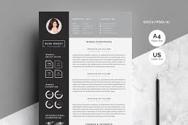 Word Infographic Cv Resume Templates Creative Market