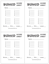 Bunco Score Sheets Template This is the Bunco Score Sheet download page You can free download 1