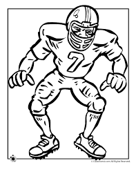 Small Picture Football Player Coloring Page Woo Jr Kids Activities
