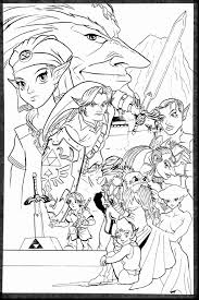 Legend Of Zelda Coloring Pages Stupendous Page Google Search