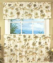 Palm Tree Kitchen Curtains